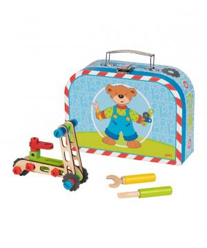 Խաղալիք «Goki Toys» Ճամպրուկ Build-a-vehicle