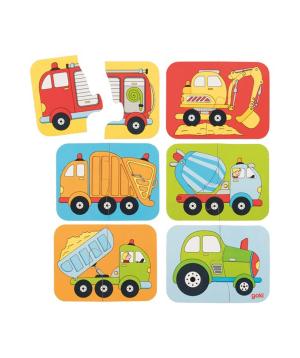 Խաղալիք «Goki Toys» մինի փազլ մեքենաներ