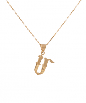 """Pendant """"Less is more"""" gold №27"""