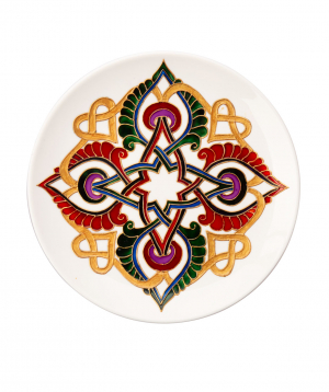 "Plate ""Taraz Art"" decorative, ceramic №10"