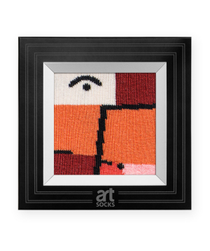 """Socks """"Art socks"""" with """"Look through the red"""" painting"""