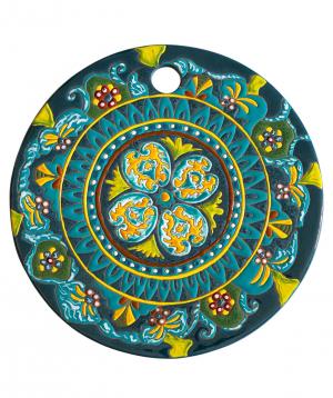 "Cheese plate ""ManeTiles"" decorative, ceramic №27"