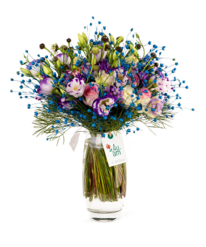 """Bouquet """"Brechin"""" with roses and field flowers"""