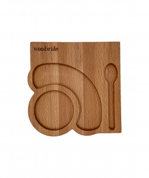 Serving tray `WoodWide` for coffee