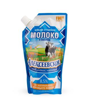 Condensed milk `Alekseevskoe` 8.5% 270 g