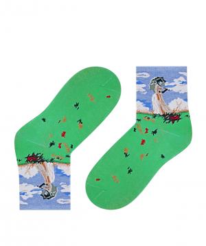 Socks `Zeal Socks` lady with an umbrella