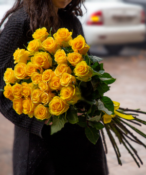 Վարդեր «Penny Lane» դեղին 21 հատ