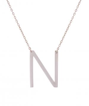 Necklace `Silverist` letter N