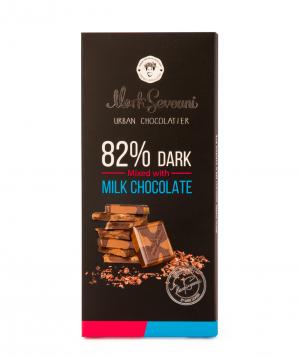 "Chocolate ""Mark Sevouni"" dark and milk chocolate 82%"