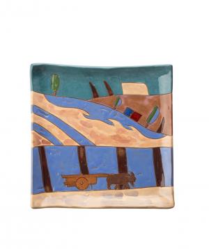 """Plate """"Nuard Ceramics"""" Trees, dessert №2"""