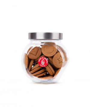 Cookies `Tartist`  in a glass container, Squid Game