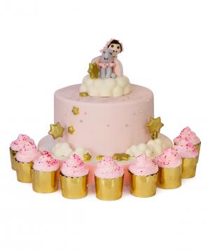 Cake `Jumbo` with cupcakes