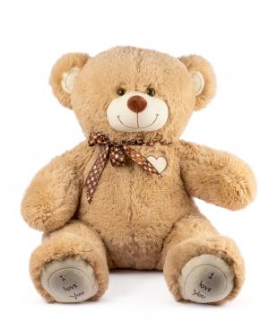 Bear Teddy `I love you` beige