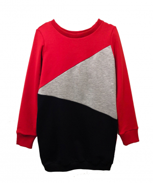 """Tunic """"Lalunz"""" red, gray, blue"""