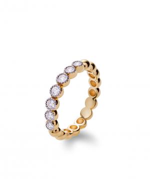 "Ring ""Lazoor"" golden, with diamond stones №2"
