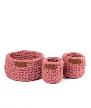"Collection ""Ro Handmade"" of handmade cotton baskets №1"