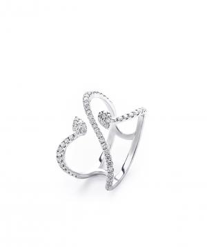 "Ring ""Lazoor"" golden, with diamond stones №11"
