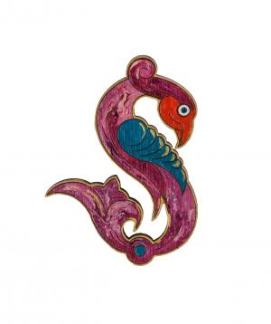 Wooden brooch `Masoor` T