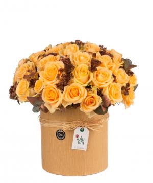 Կոմպոզիցիա «Ազոլո» վարդերով