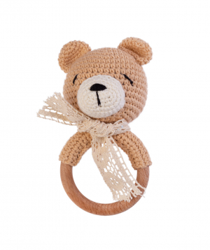 """Rattle """"Crafts by Ro"""" bear №2"""