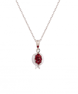 Necklace `Silverist` pomegranate №1