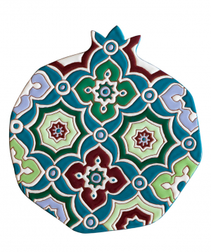 "Cheese plate ""ManeTiles"" decorative, ceramic №15"