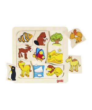 Խաղալիք «Goki Toys» փազլ որտեղ եմ ես ապրում