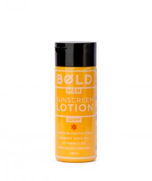 "Lotion ""Bold Man"" Sunscreen for men"