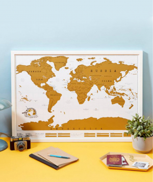 Աշխարհի քարտեզ «Ceative Gifts» ջնջվող մակերեսով №2