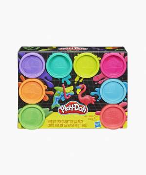 Hasbro Plasticine PLAY-DOH 8 Color Neon