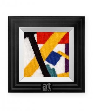 "Socks  ""Art socks"" with ""Suprematism"" painting"