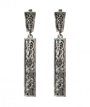 """Earrings """"Har Jewelry"""" silver grapes"""