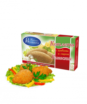 Cutlets `Bellisimo` kiev with mushrooms and cheese
