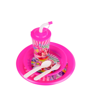 Set with plastic cup and plates №4