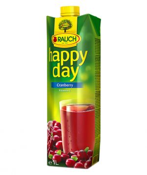Juice `Happy Day` natural, cranberry 1l