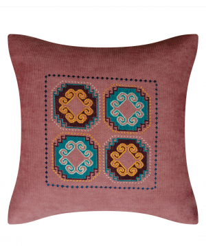 """Pillow """"Miskaryan heritage"""" embroidered with Armenian ornament №32"""