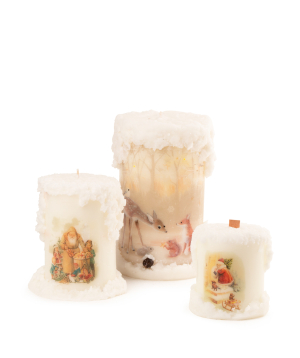 Collection `Light Your Home` of Christmas candles