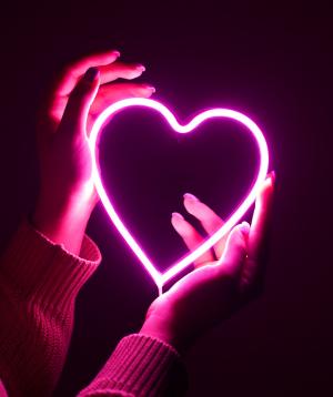 Լամպ «Neon Signs» նեոանային, վարդագույն սիրտ