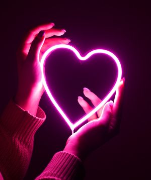"Lamp ""Neon Signs"" neon, pink heart"