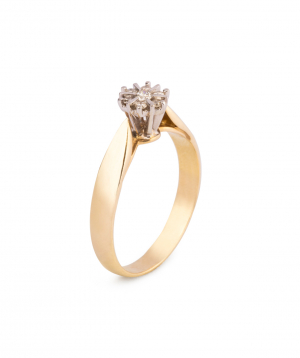 """Ring """"Less is more"""" gold №3"""