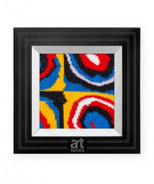 """Socks  """"Art socks"""" with """"Farbstudie Quadrate"""" painting 1 pair"""