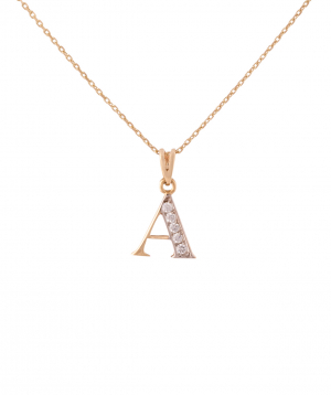 """Pendant """"Less is more"""" gold №16"""