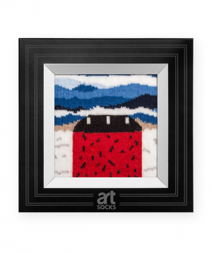 """Socks  """"Art socks"""" with """"Red House"""" painting"""