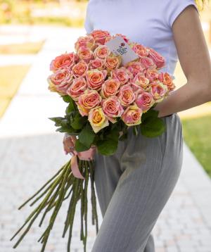 Roses «Fiesta» pink 29 pcs