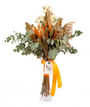 Ծաղկեփունջ «Զամորա» դաշտային ծաղիկներով