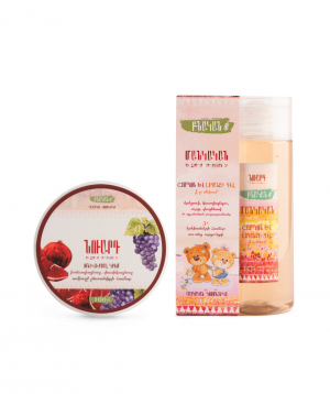 Collection `Nuard` baby shampoo and universal cream
