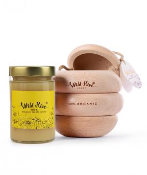 """Cream-honey """"Wild Hive"""" 100% Certified Organic  430g"""