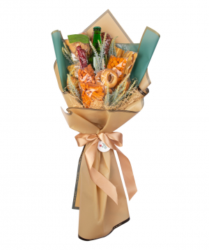 Bouquet `Udine` with beers and nuts