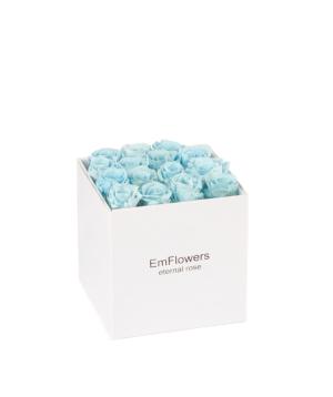 Վարդ «EM Flowers» հավերժական, տուփով, երկնագույն