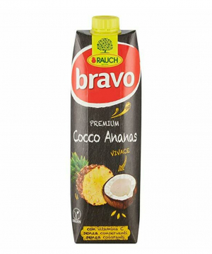 Juice `Bravo` natural, pineapple and coconut 1l